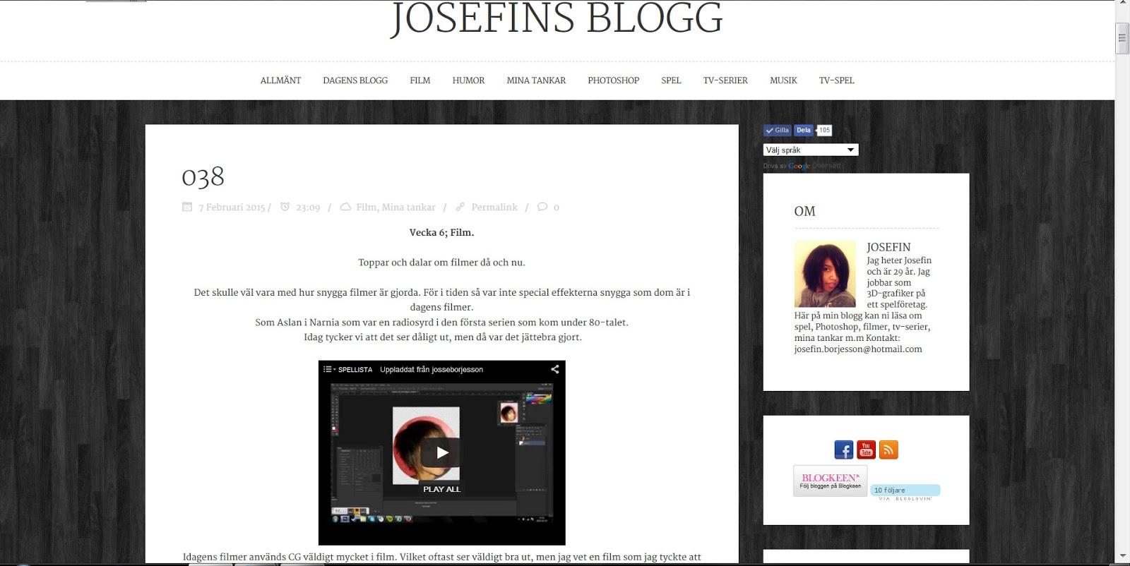 http://josseborje.blogg.se/