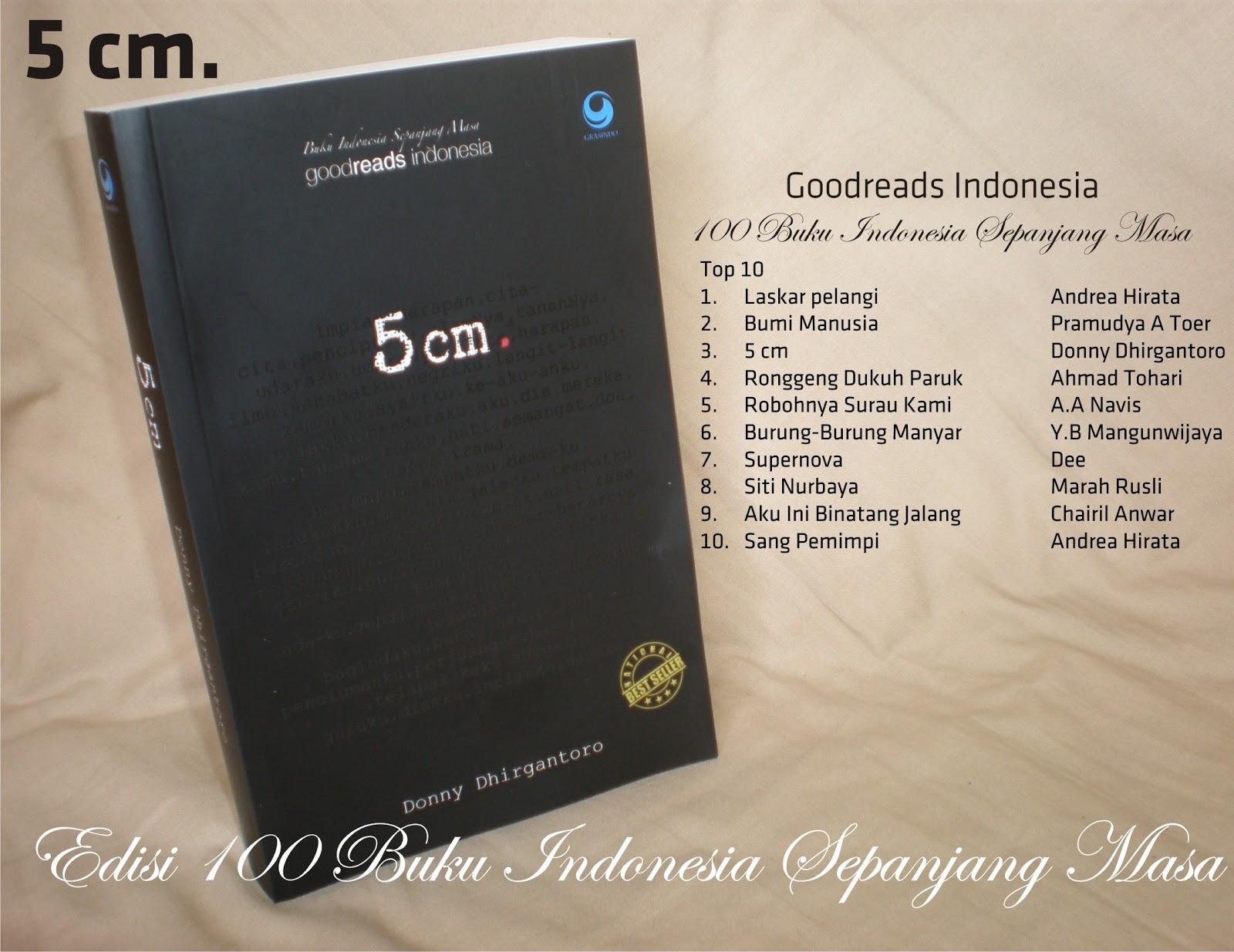 Sinopsis Buku Novel 5 cm