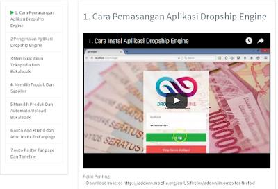 Cara Install Aplikasi Dropship Engine
