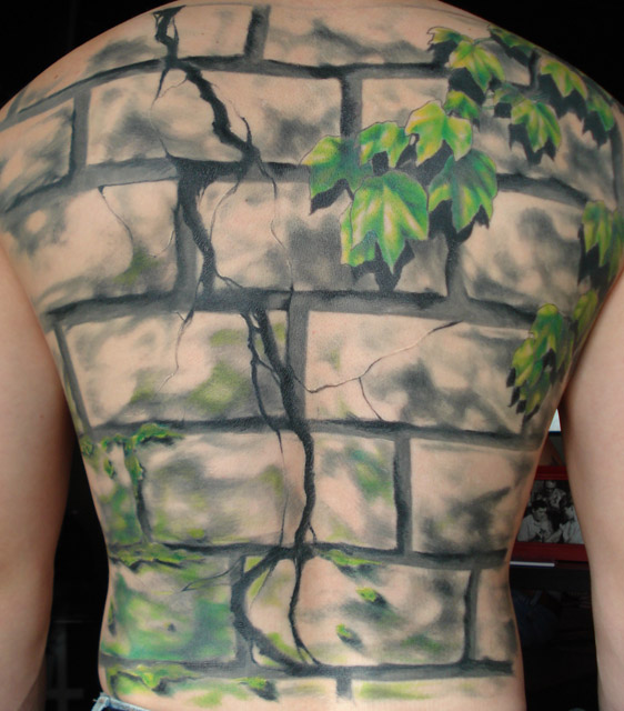 Brick Wall Tattoo Designs1