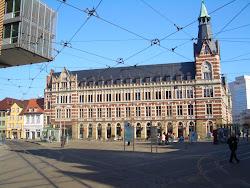 Postgebäude auf dem Erfurter Anger