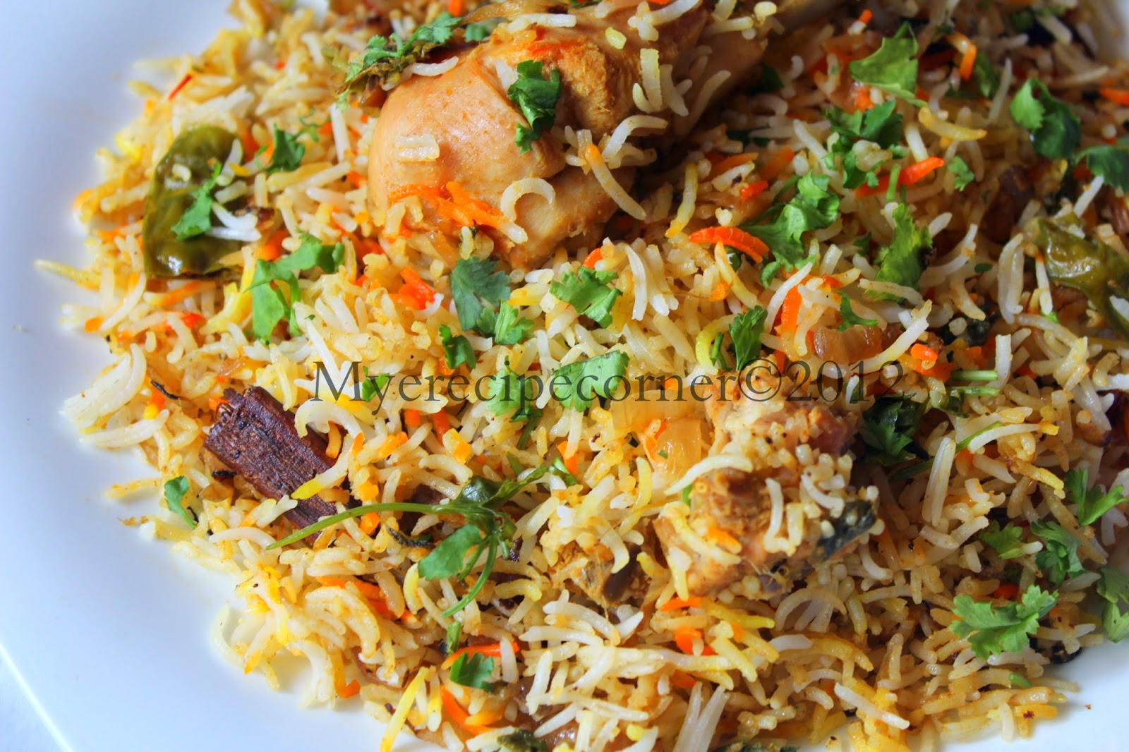 Mye's Kitchen: Hyderabadi Chicken Dum Biryani