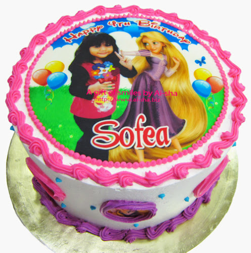 Rainbow Cake Edible Image Rapunzel Ai-sha Puchong Jaya