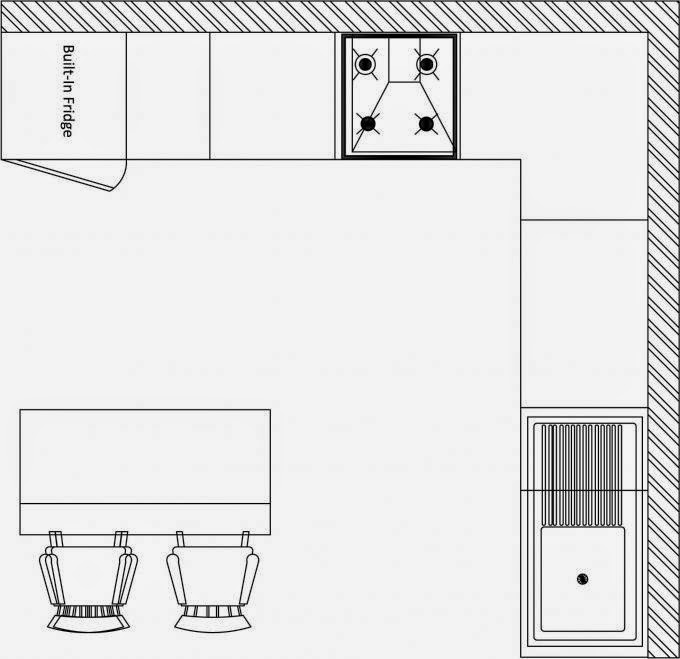 Kinds Of Kitchen Layout: L Shape Kitchen With Island