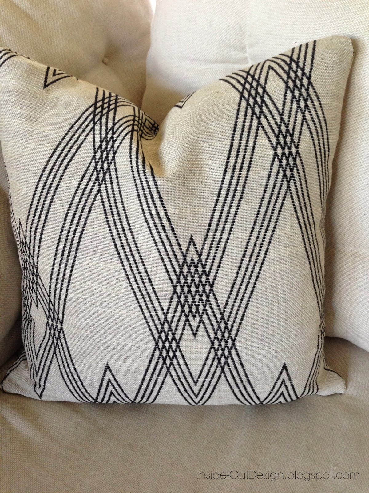 Inside out design a pillow cover made with nate berkus fabric for Insider design pillow