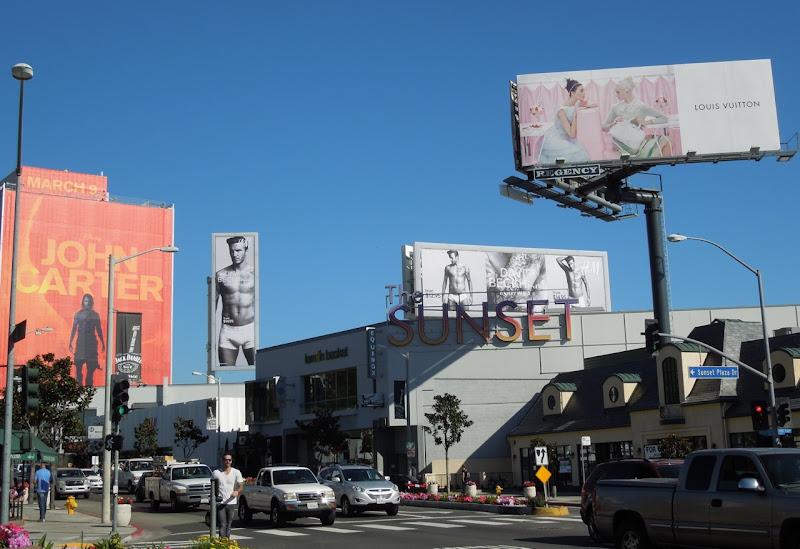 Beckham HM underwear billboards Sunset Strip