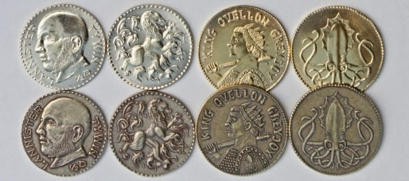 Feel like the Iron Bank of Bravos with Game of Thrones Metal Coins
