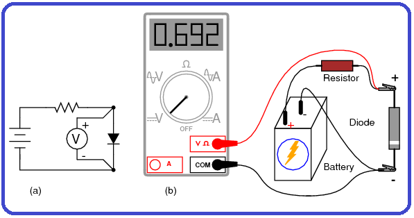 Measuring Voltage Of A Diode Withoutdiode Check Meter Function A