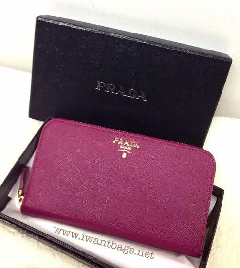 prada black purse - Prada Saffiano Zip Around Wallet 1M0506 - Ametista