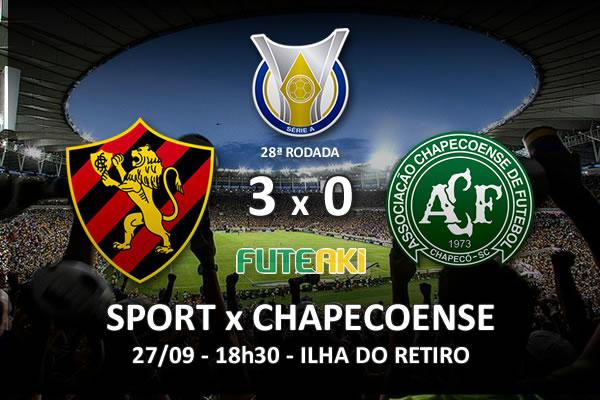 Veja o resumo da partida com os gols e os melhores momentos de Sport 3x0 Chapecoense pela 28ª rodada do Brasileirão 2015.