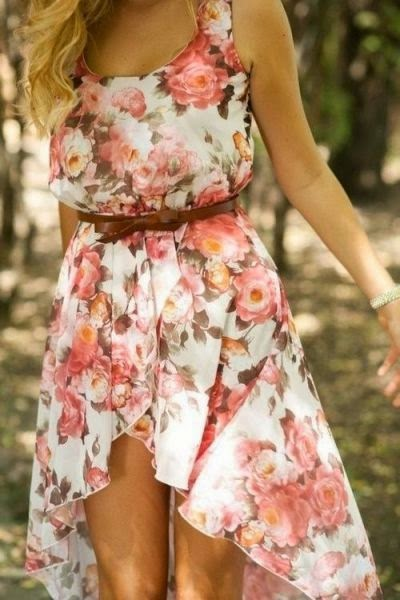 summer dress floral pink white women fashion style clothing outfit
