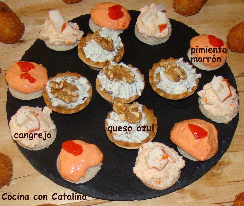Cocina con catalina canap s variados para navidad for Canape para navidad