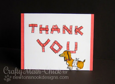 Doxie vet thank you card by Crafty Math Chick | Newton's Sick Day & Dleightful Doxies by Newton's Nook Designs