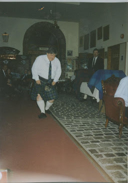 "YOUNG BRAVEHEART BRIAN GEMMELL DISPLAYING HIS SCOTTISH ""TALENTS"" WITH KILT AND HIGHLAND DANCING!"