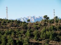Montserrat des del mirador de la Serra del Ginebral