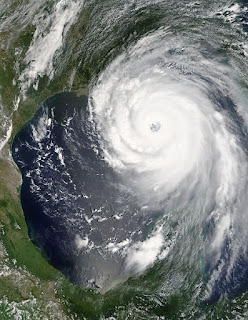 Image of Hurricane Katrina from Space