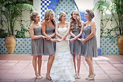 Beachy Bridesmaid Dresses on Weddingdress    Blog Archive    Sweetheart Grey Bridesmaids Dresses