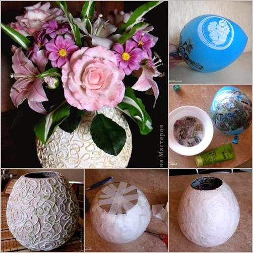 Diy vase from recycling paper handy diy for Homemade recycling projects