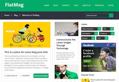 Flat Mag SEO Blogger Templates