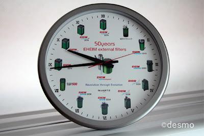 エーハイムオリジナル壁掛け時計