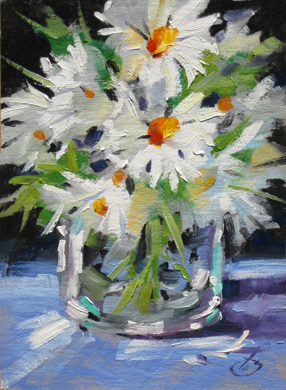 Tom brown fine art daiseys 1 tom brown original oil for Original oil paintings for sale by artist