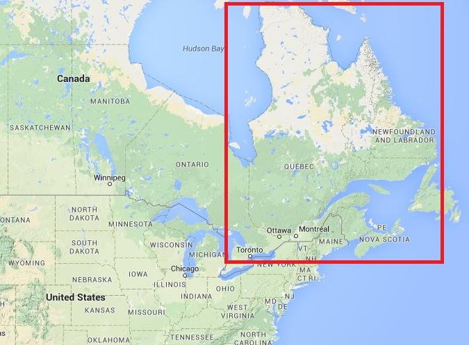 Carte de localisation du Québec