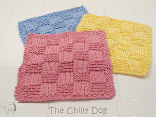 Free Easy Knitting Pattern: How to make checkered cotton washcloths