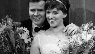 На фото: Победители Евровидения - 1963 года, Grethe and Jorgen Ingmann (Грета и Юрген Ингманн)