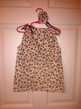 Brown Polka Dot Pillowcase dress