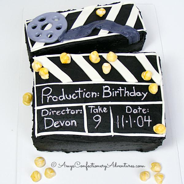 How To Make A Movie Clapper Cake