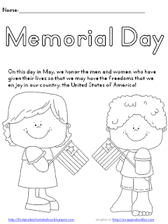 First grade is fantabulous memorial day freebie for Memorial day coloring pages for kids