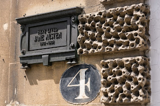 Plaque outside Jane Austen's house in Bath
