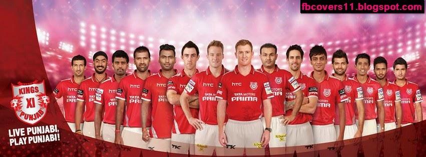 King's Xi Punjab IPL 8 Facebook Banner