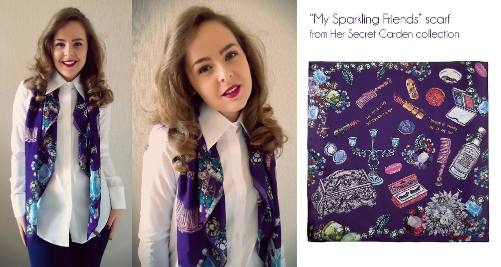 fashion blogger, print scarves,Choulachou scarves,