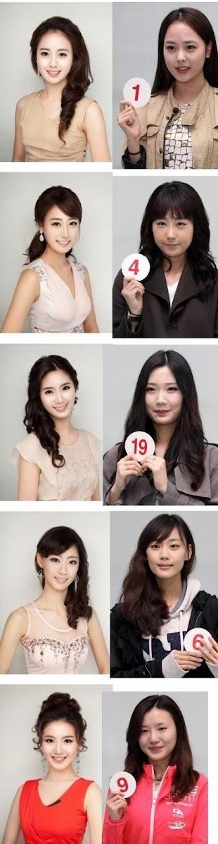 Coreanas en concurso de belleza