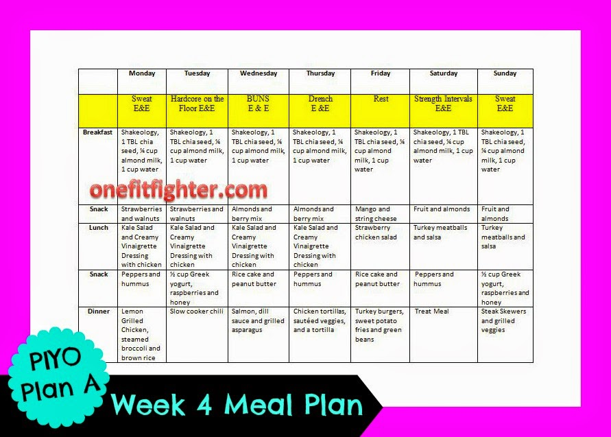 piyo meal plan