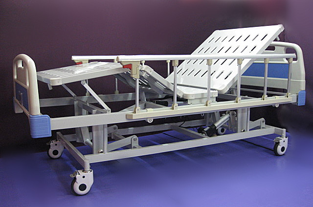 2. Hospital patient bed electric three functions including High-Low 三功能电功医院床 整張床面可调高低