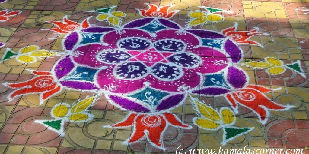 Kolangal drawn at Anna Nagar Park on account of Pongal Celebrations ...