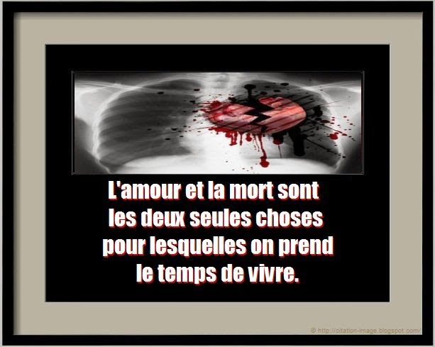 Une belle citation mort amour en image