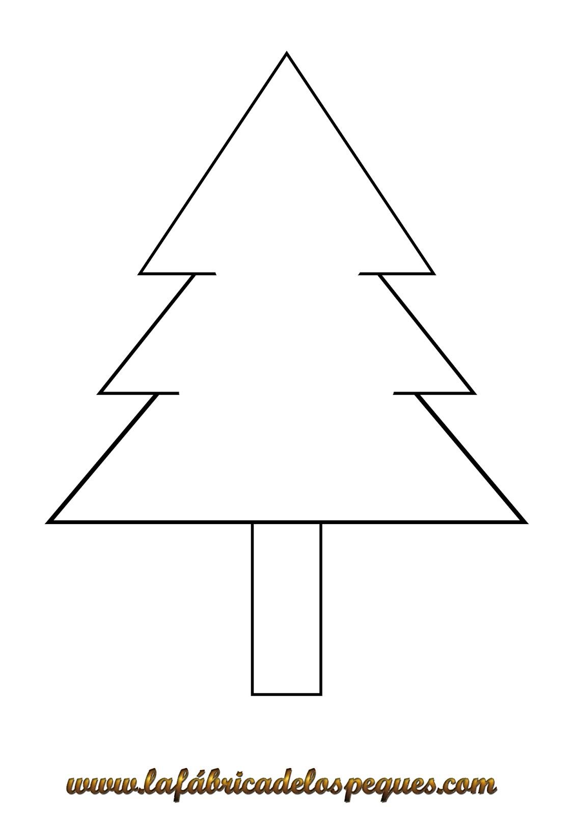 Imprimibles y moldes navide os gratuitos la f brica de - Arbol de navidad para imprimir ...