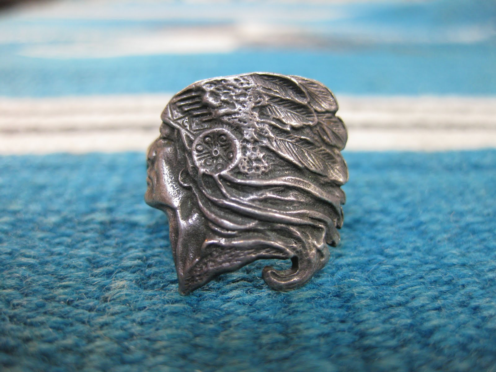 around 40's                「INDIAN HEAD」 モチーフ                   SILVER RING