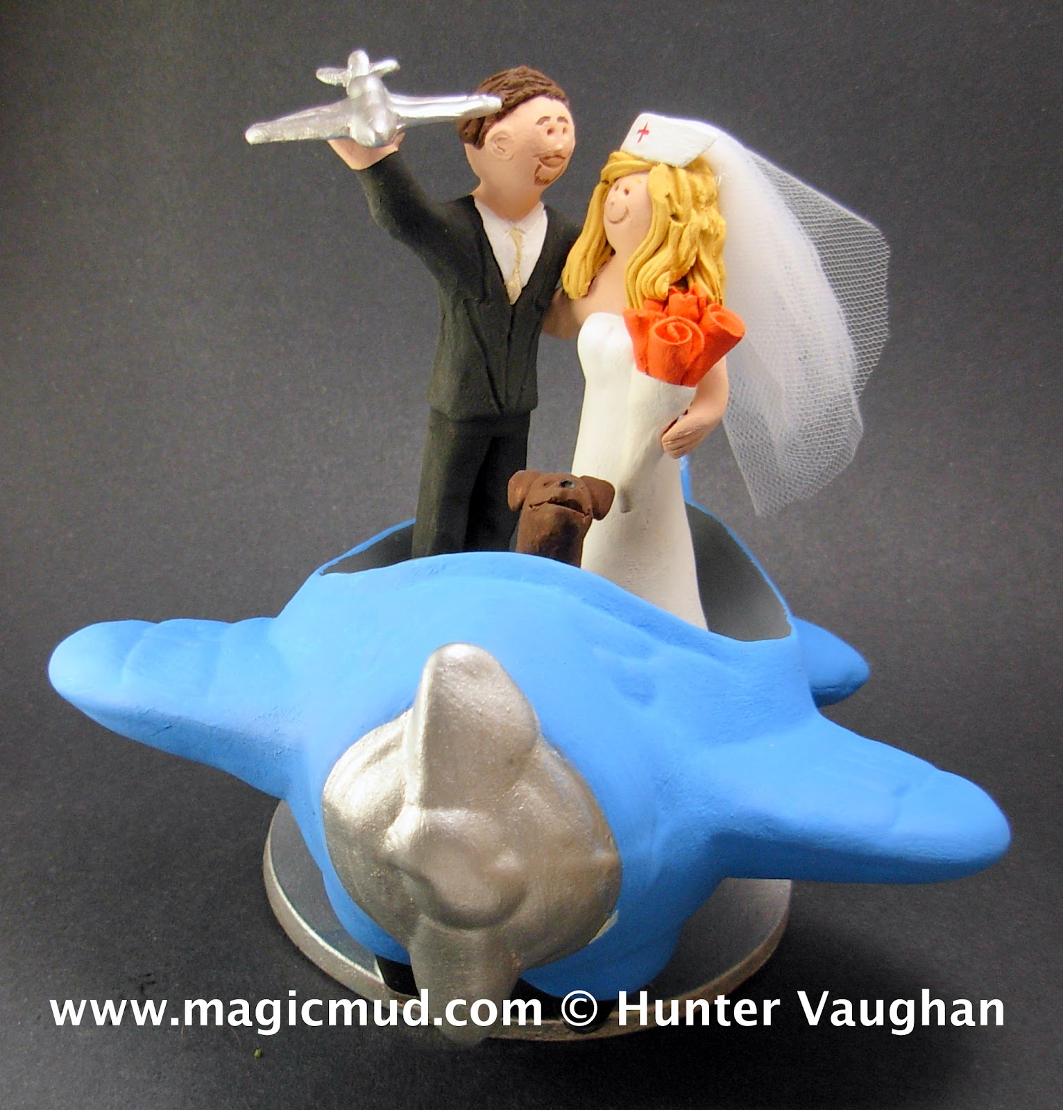 custom wedding cake toppers: Aeronautical Engineer Marries ...