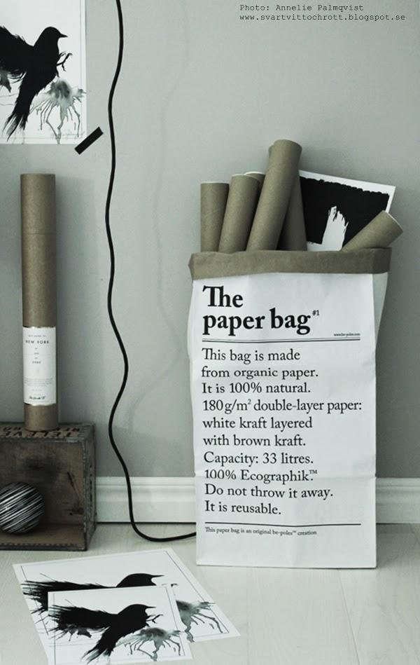le sac en papier, papperspåsar, papperspåse, vit påse, brun påse, från frankrike, förvaring, the paper bag, text, grafisk, grafiska, stilrent, stilrena, svart och vitt, svartvit, svartvitt, svartvita, poster, posters, print,prints, tavlor, ateljé, webbutik, webbutiker, webshop, nettbutikk, nettbutikker, plakater, grått, grå,