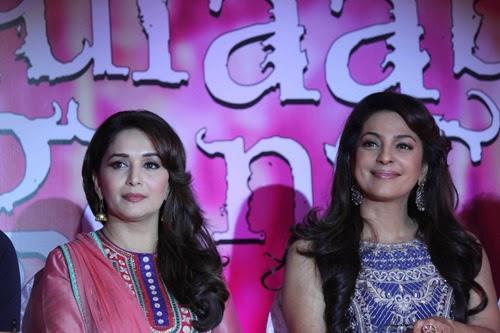 Madhuri Dixit and Juhi Chawla at Gulaab Gang Movie Trailer Success Meet Event Gallery