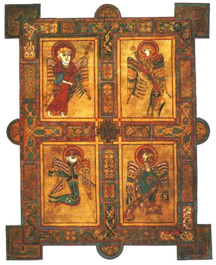 The Four Gospels from the Book of Kells