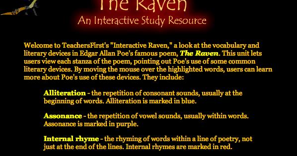 Ms Casassa 6 8 Language Arts The Raven By Edgar Allan Poe
