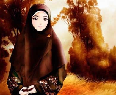 Picture of Animasi Kartun Cewek Cantik Berjilbab 1 in Kartun Cewek