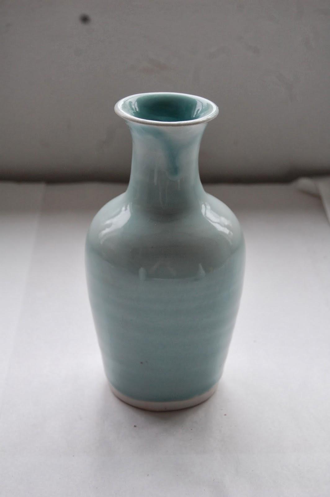 Michel Francois porcelain Celadon vase