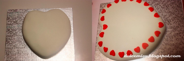 tarta, corazón, san valentin, fondant, dulcemisu