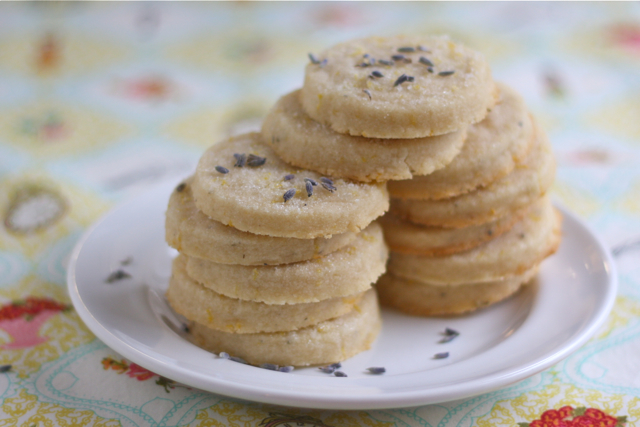 Lemon-Lavender Shortbread Cookies